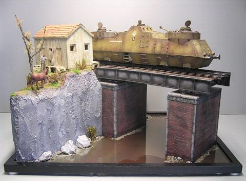Größe des Dioramas 40x60cm