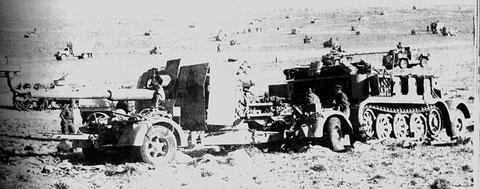 Die Flak 41 auf Fahrgestell 202 mit der 8tonner-Zugmaschine SdKfz.7