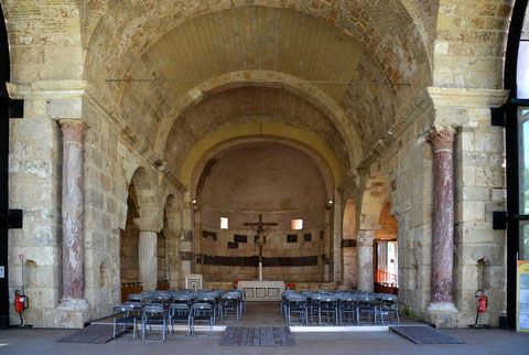 The dome covered area of San Saturnino in Cagliari/Sardinia