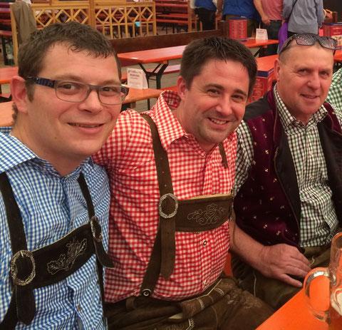 v.l.n.r.: Christian Schuster, Markus Glock, Hubert Netter