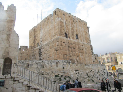 Башня Фацаэля, древнейшее из сохранившихся сооружений в Иерусалиме, 6 г. до н.э.
