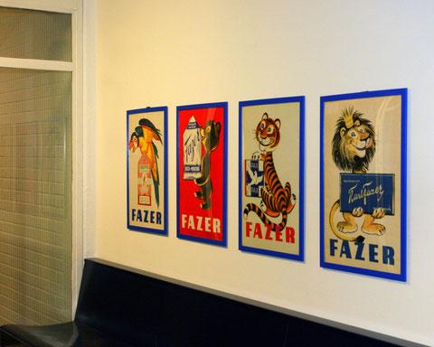 Рекламные плакаты Fazer