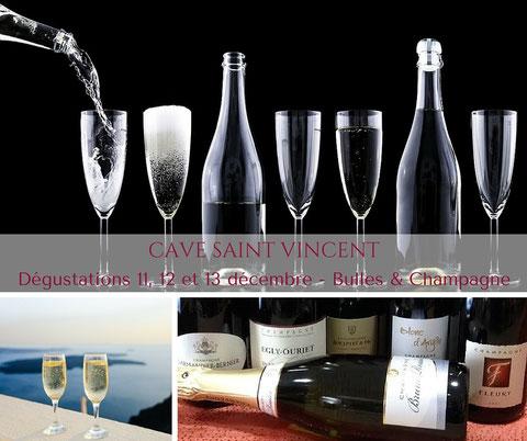 Dégustation Bulles & Champagne Cave Saint Vincent La Teste de Buch