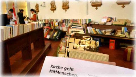 Buchflohmarkt in der Kirche