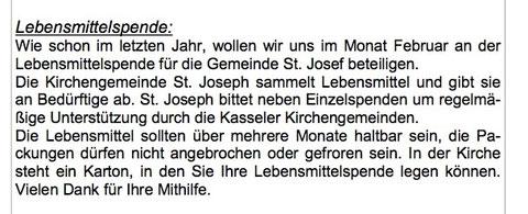 Pfarrei St. Michael in Kassel hilft! Danke!