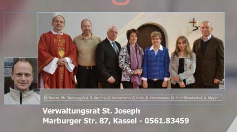 Damen und Herren des Verwaltungsrates der kath. Kirchengmeinde St. Joseph