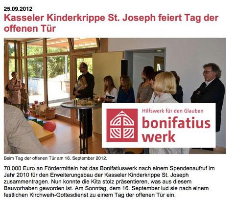Förderung und Hilfe für unsere Arbeit kommt aus Paderborn: Das Bonifatiuswerk