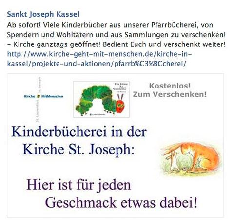 Wir verschenken Kinderbücher in unserer Kirche auf dem Rothenberg!