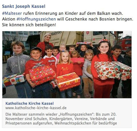 Aktion Hoffnungszeichen der Malteser seit vielen Jahren auch in Kassel