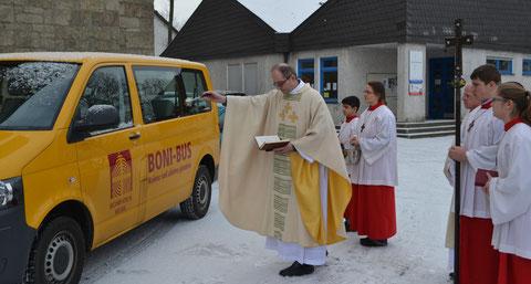 Fahrzeugsegnung im Januar 2013