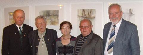 1.v.l. Vors.  K. Th. A. Fritz,   2. G. Kicherer,      3. H. Leucht,      4.  E. Fürner,                5. stellv. Vors. W. Radke