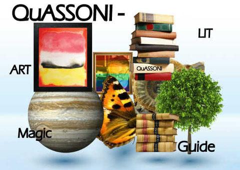 Lesungen . Ausstellungen, Zaubershows und Führungen = QuASSONIs vier Sparten. Jeweils hier buchbar.