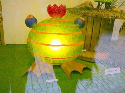 Frosch-Lampe aus Glas