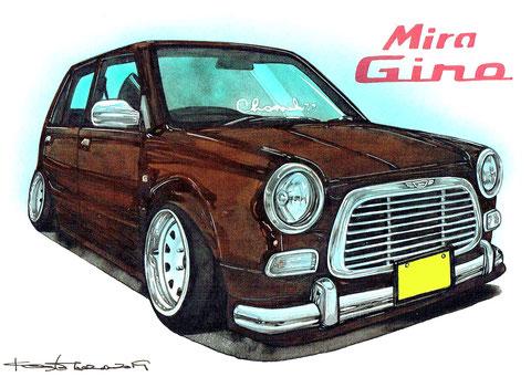 ミラジーノ車絵イラスト