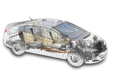 車の透視図