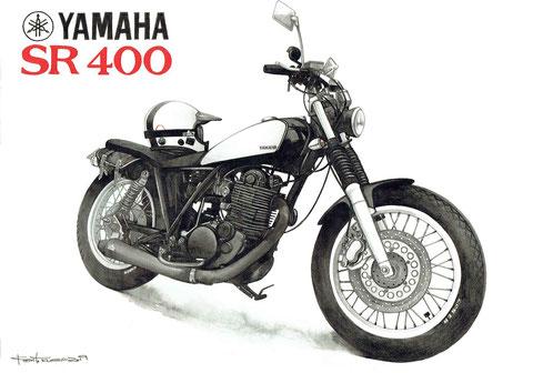 SR400のイラスト絵