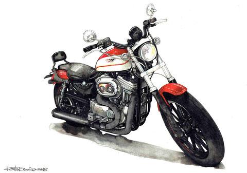 ハーレーのバイク絵