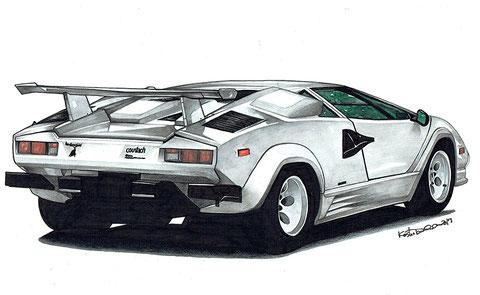 Lamborghini countach 車絵イラスト