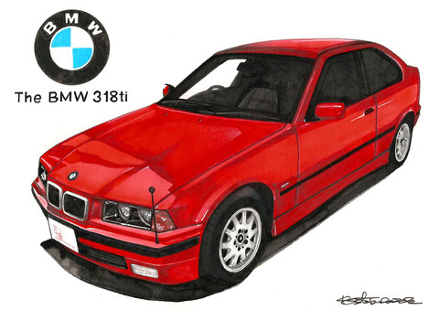 BMW318tiのイラスト