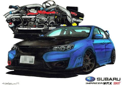インプレッサWRX Stiとエンジン