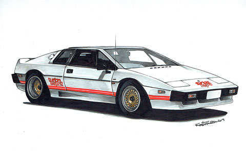 LOTUS ESPRIT Turbo 車絵イラスト ロータスエスプリターボ
