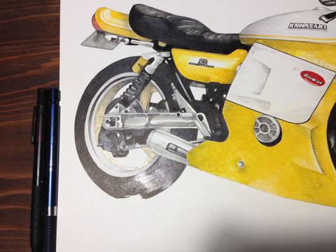バイク絵イラスト