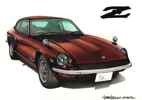 S30フェアレディZの手描きイラストギフト