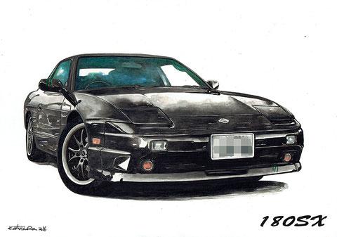 180sx 車の絵イラスト