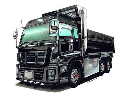 ダンプトラックの車イラスト絵