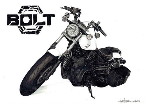 バイクのイラスト絵