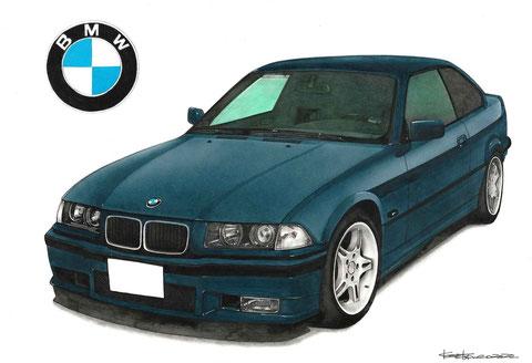 BMWのイラスト絵