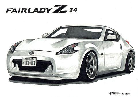 FAIRLADY Z34 フェアレディZ 車絵イラスト