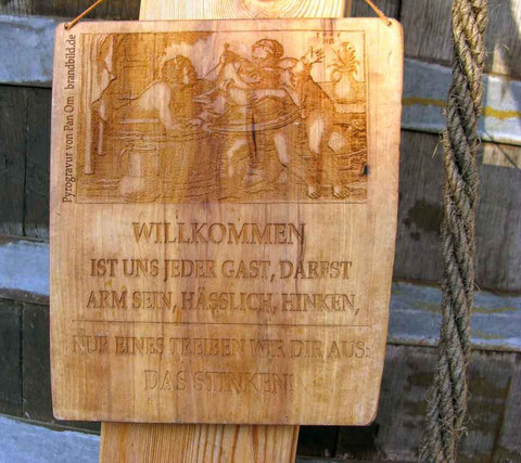 Mittelaltermarkt Esslingen: Schild am Badehaus  -  © Traudi