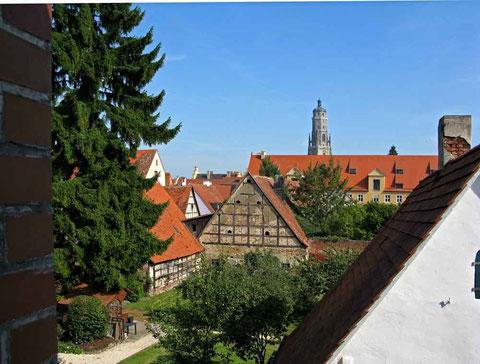 Nördlingen, Blick von der Stadtmauer - © Traudi