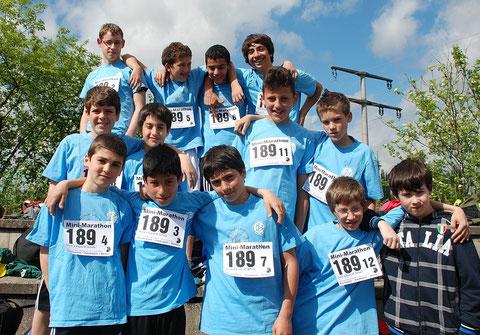 Bubenmannschaft beim Minimarathon 2012