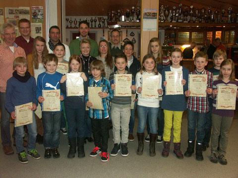 Leichtathleten wurden für ihre sportlichen Leistungen in 2012 geehrt.