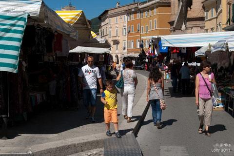 Markt in San Severino Marche
