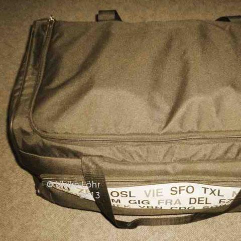 Reisetasche, gepackt