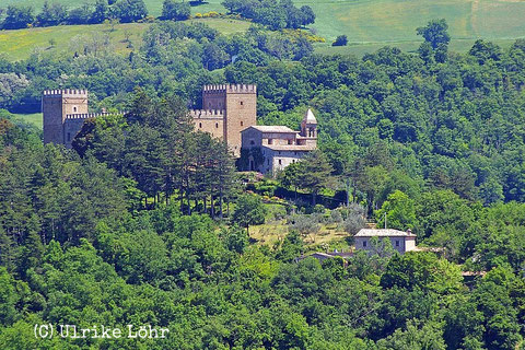 Locanda dell'Istrice unterhalb der Rocca d'Ajello
