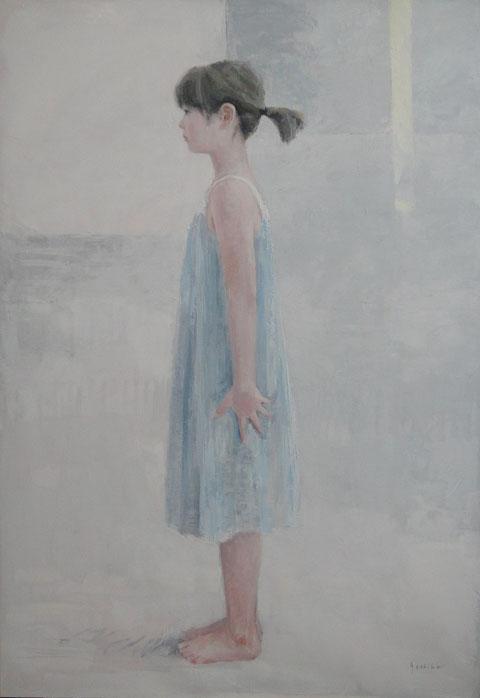 夏の娘   100号油彩   今開催中の日展出品作です。東京のみの展示です。