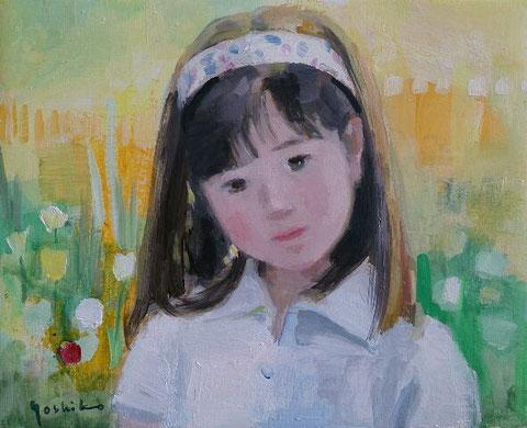 ぎりぎり描けた昔の娘の絵、描きかけの絵がいくつもあります。要望もあって並行して描いてみています。絵本の中の少女のようです。
