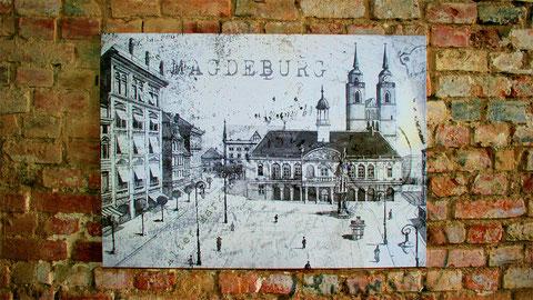 Magdeburger Motive auf Leinwand u. Fototapete, die wir gern bei Ihnen anbringen.