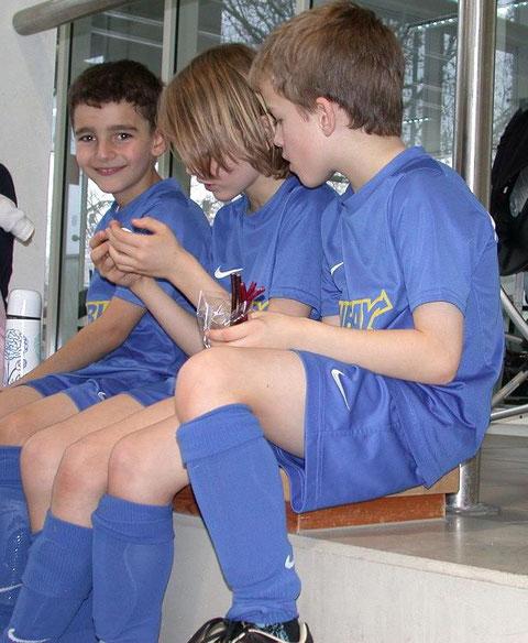 F3 Poing  - kurze Pause während des Freundschaftsspiels beim SV Parsdorf