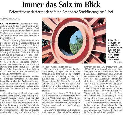 Quelle: Hildesheimer Allgemeine Zeitung vom 25.04.2015