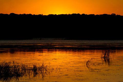 Lagune bei Sonnenuntergang.