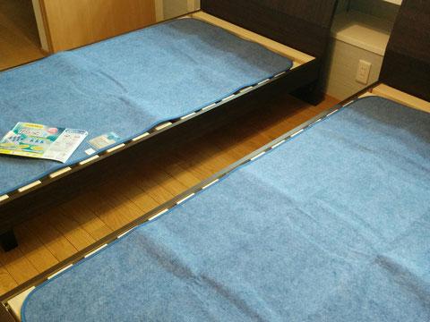 除湿シート「からっと寝」から設置
