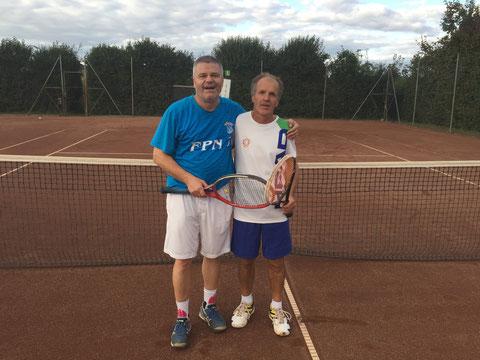 Die Finalisten Franz Peter Nussbaumer und Karl Eigner