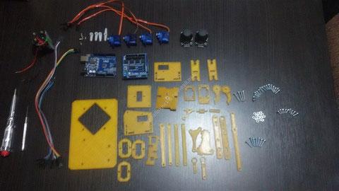 Robot Kol Proje Malzemeleri