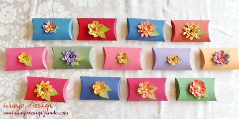 PillowBoxen mit Blumen drauf