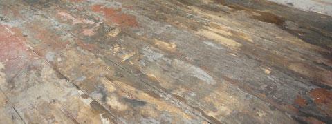 Breitdielenboden vor der Restaurierung